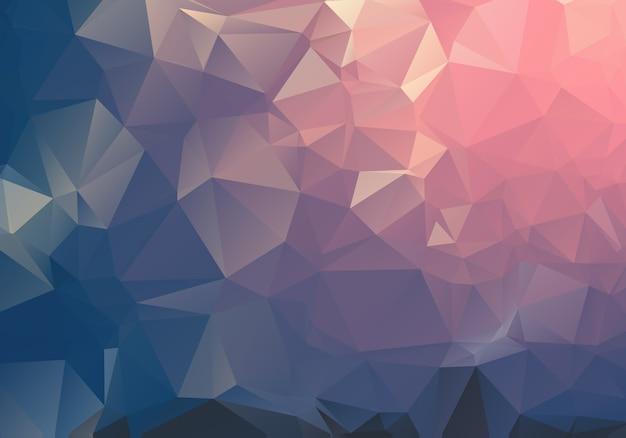 暗い光の幾何学的なしわくちゃの三角形低ポリ折り紙スタイルグラデーション図グラフィックの背景。