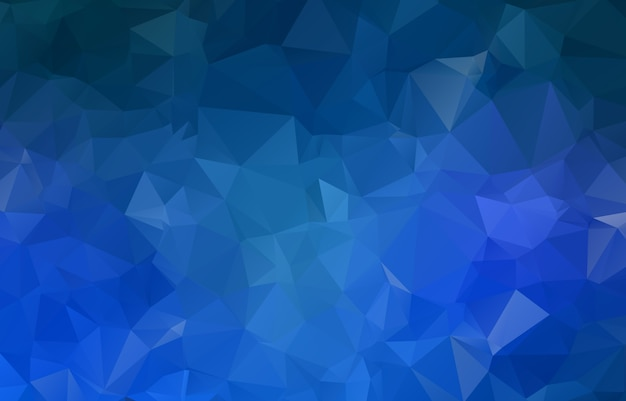 青い幾何学的なしわくちゃの三角形低ポリ折り紙スタイルグラデーション図グラフィックの背景。