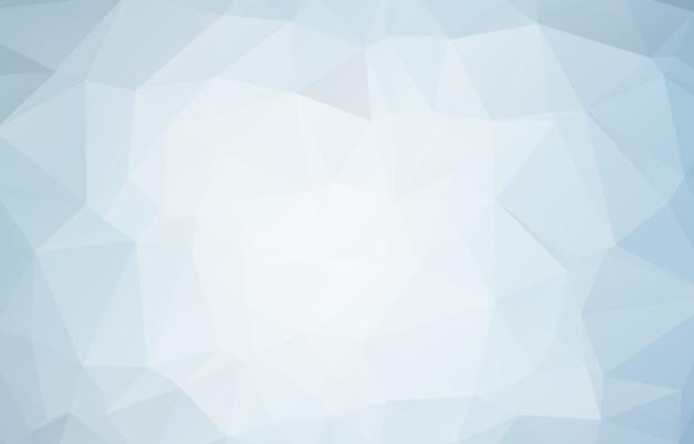 青白多角形モザイクの背景