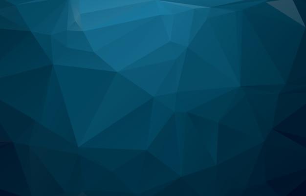 三角形から成る青い多角形図。