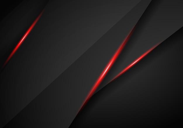 Абстрактный металлический красный черный каркас макет современной технологии шаблон фона