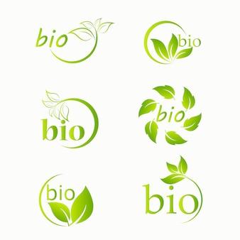 バイオ製品のロゴセット