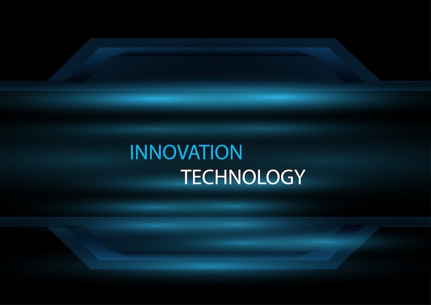 光の効果デザインコンセプトの背景を持つ抽象的な技術革新と技術の概念。