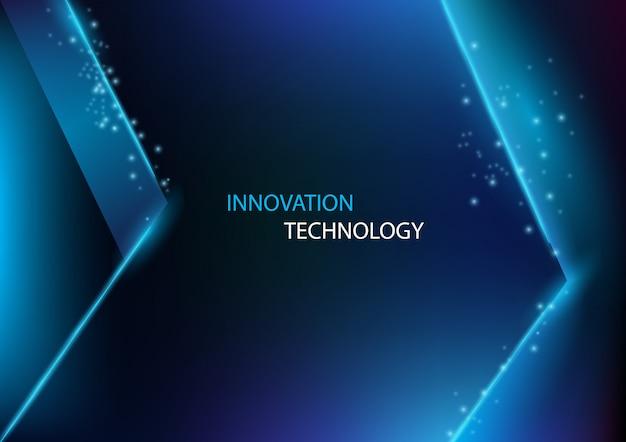 稲妻の矢印の背景を持つ技術革新と技術を抽象化します。