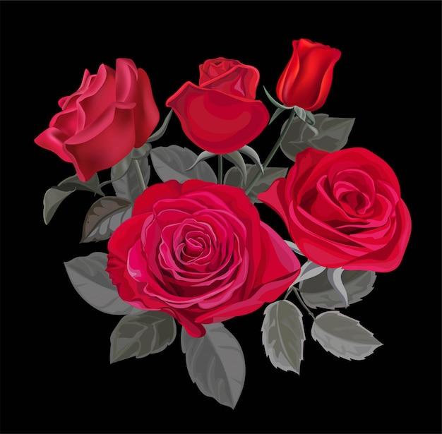 赤いバラのベクトル図