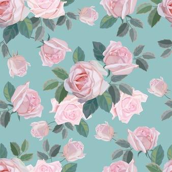 花のシームレスなパターンベクトル図