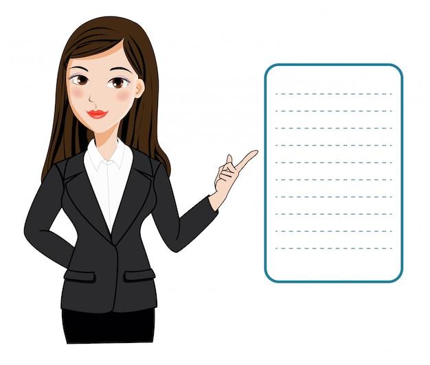 働く女性のプレゼンテーション