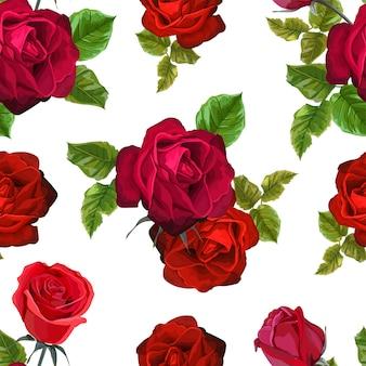 グリーティングカードや結婚式の招待状の赤いバラの花