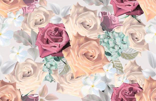 Цветочный букет романтических стилей