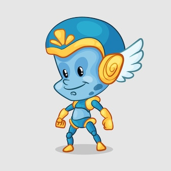 青いエイリアンのキャラクター