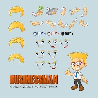 ビジネスマンのカスタマイズ可能なパック