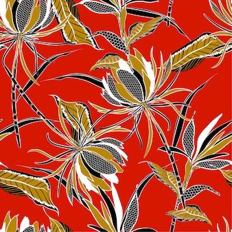 夏の明るいベクトルシームレスパターンの花のパターン