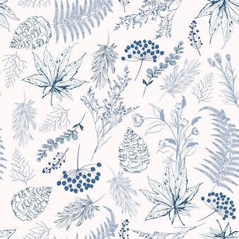 モノトーンブルーの色シームレスなパターンのベクトル図