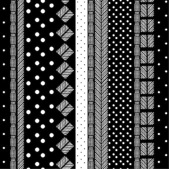 モダンなモノトーンの黒と白の模様