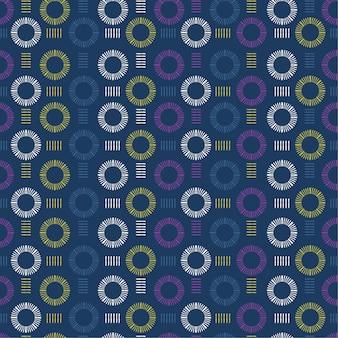 ヴィンテージのカラフルな幾何学的な手描きのシームレスパターン