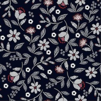 刺繍のシームレスパターン