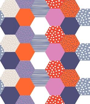 カラフルな幾何学模様。シームレスパターン