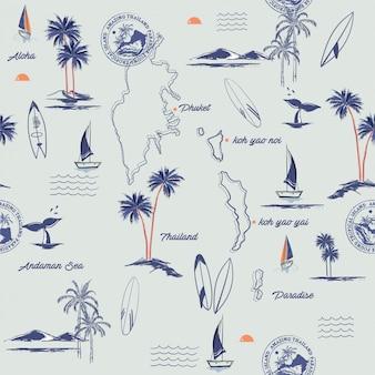 島のシームレスなパターン。