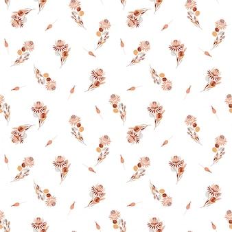 プロテア花の美しいレトロな自由は、花柄と植物のシームレスなパターンです。装飾的なデザイン要素ファッション生地、壁紙、すべての版画のためのランダムな繰り返しデザイン