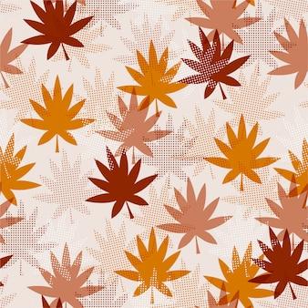 秋の葉のパターン