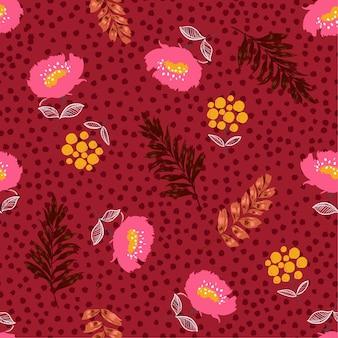 Бесшовные цветущий цветочный узор вектор,