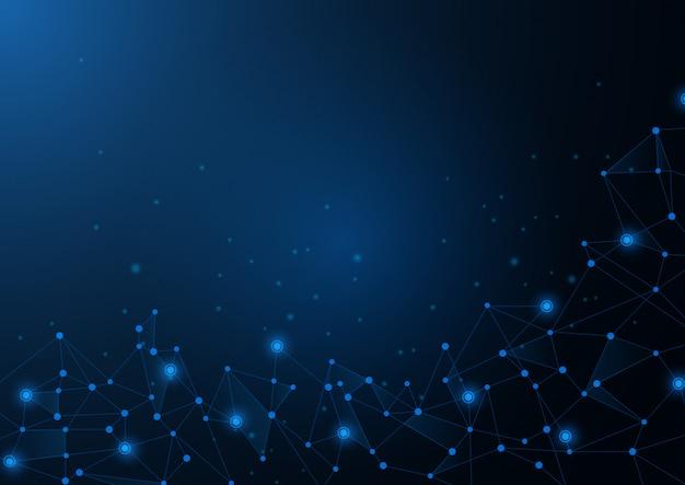 科学技術グラフィックデザインの抽象的な青い背景。