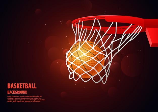 Баскетбол современный спортивный фон.