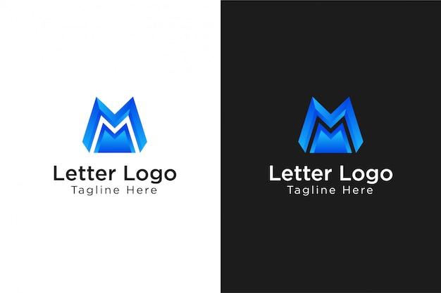 М буква минималистичный логотип