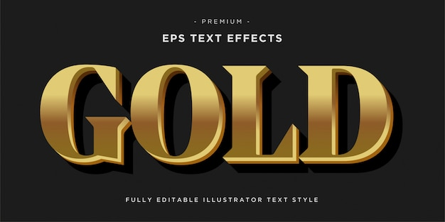 Золотой текстовый эффект - стиль текста.