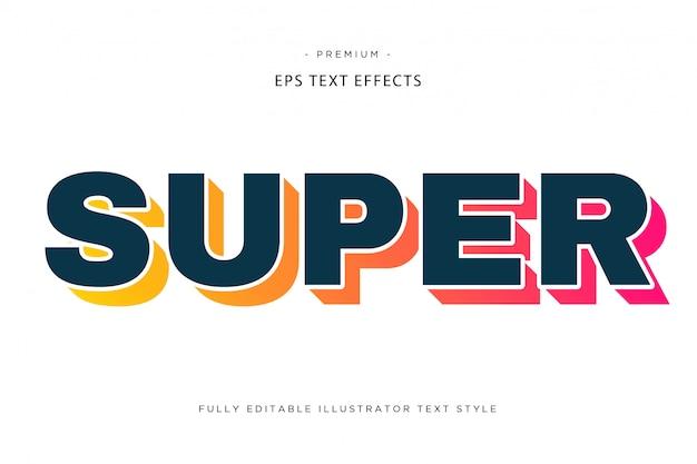 Супер красочный текстовый эффект