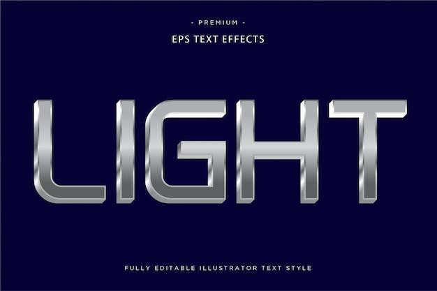 Светлый серебряный текстовый эффект легкий текстовый стиль