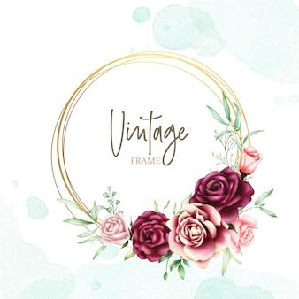 Красивая свадебная открытка с акварельным фоном