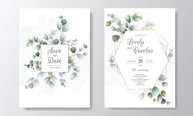 Красивая рисованной цветочные свадебные приглашения