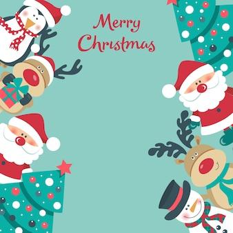Рождественский фон с санта