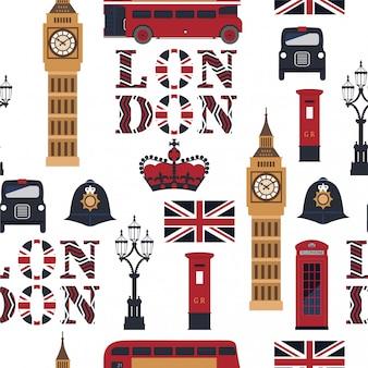 ロンドンのシームレスパターン。