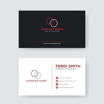 Красная минималистская визитная карточка