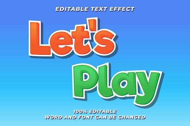 プレイゲームテキストスタイルエフェクトプレミアム