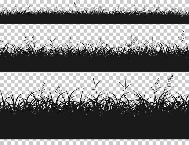 分離されたシルエット草