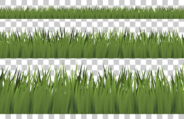 分離された草の境界線