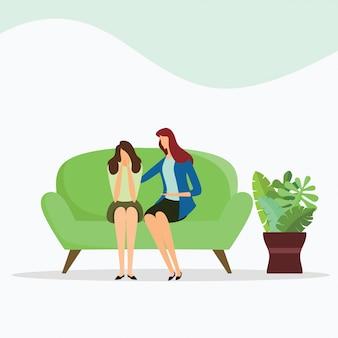 女性心理学者と女性患者