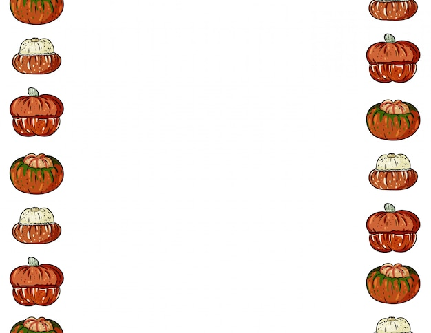 かわいいカラフルなカボチャ漫画のシームレスパターン。ハロウィーンの装飾バナー