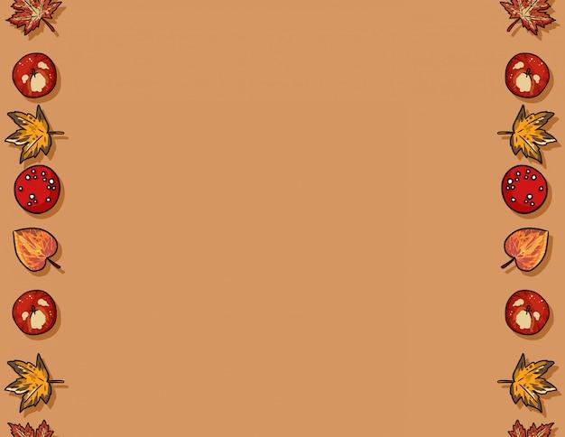 Симпатичные осенние элементы бесшовные модели кадра