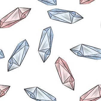 Кристалл каракулей бесшовные модели.