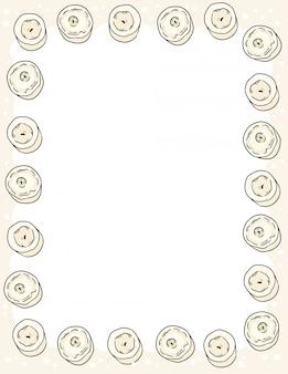 コミックスタイルのキャンドル落書きトップビューフレーム文房具