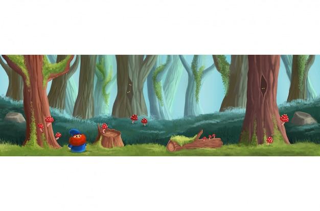 魔法の森のゲームの場所。プラットフォームゲームデザイン