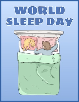 彼女のベッドで安らかに眠っている少女