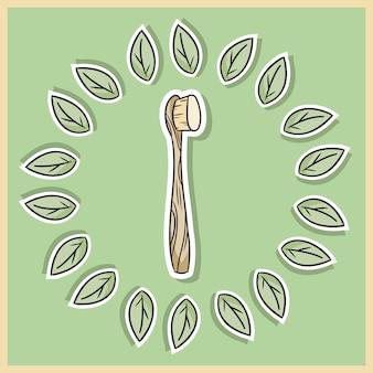 Натуральный материал бамбуковая зубная щетка