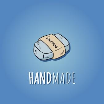 手作りの天然石鹸のロゴ。