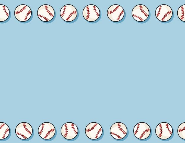 野球のシームレスなパターン背景