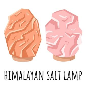 Розово-оранжевая гималайская соляная лампа